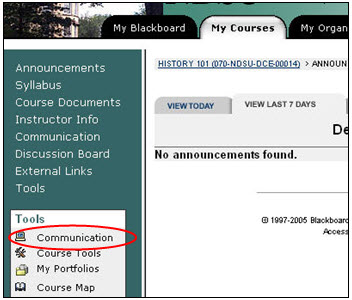 Blackboard communication link