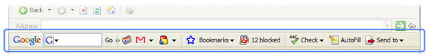 The Google toolbar