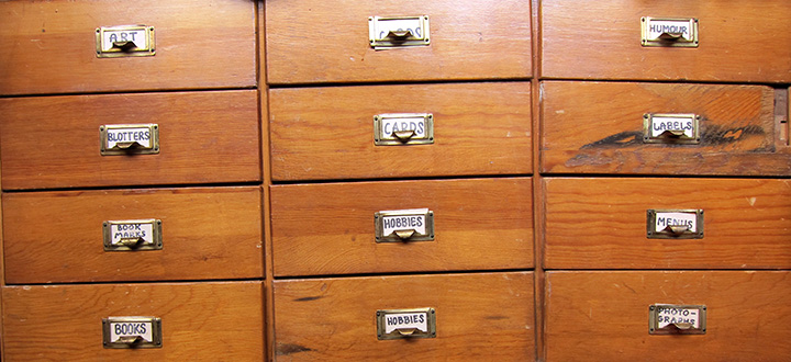 Card Catalog organizing system